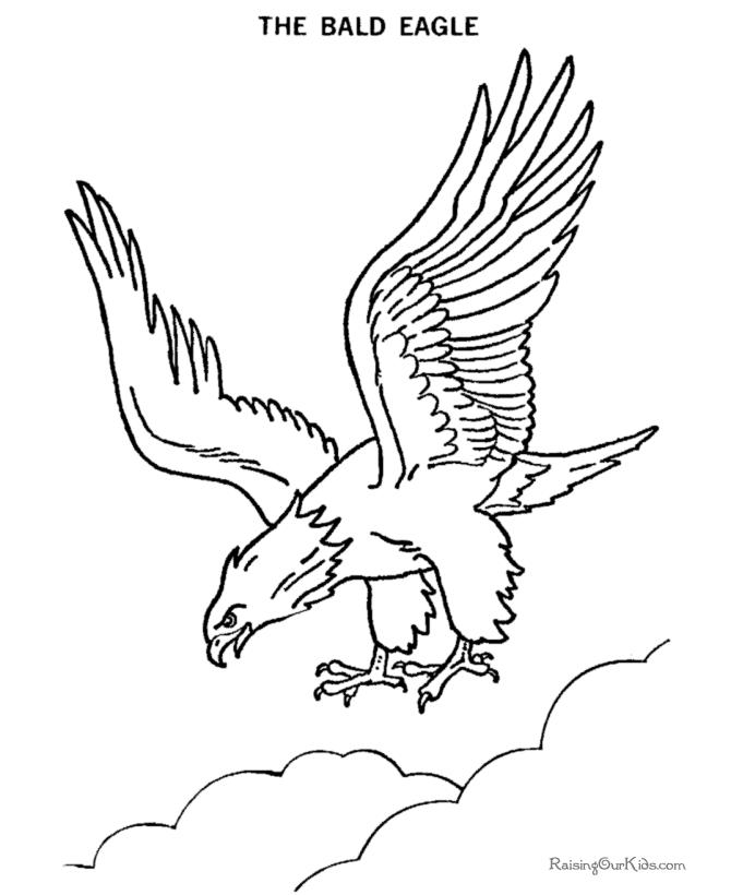 Coloriage Aigle #293 (Animaux) - Album de coloriages