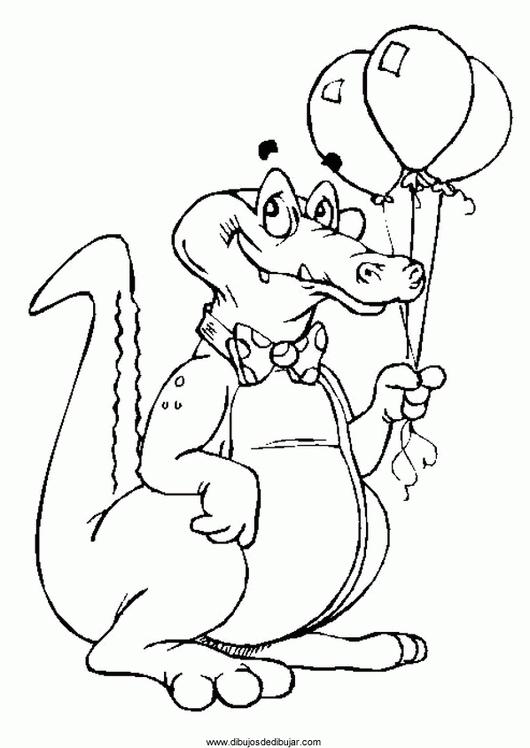 Coloriage Alligator #416 (Animaux) - Album de coloriages