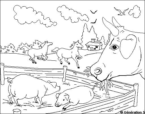 Coloriage Animaux de la ferme #21663 (Animaux) - Album de ...