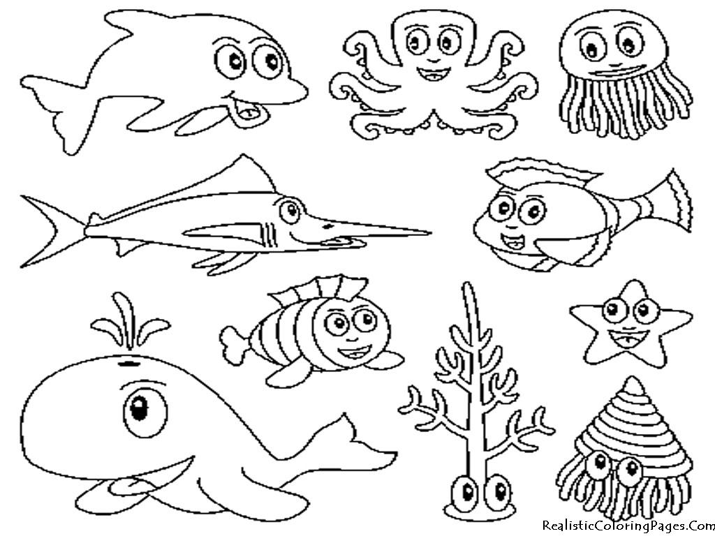 Coloriage Animaux marins #22071 (Animaux) - Album de coloriages