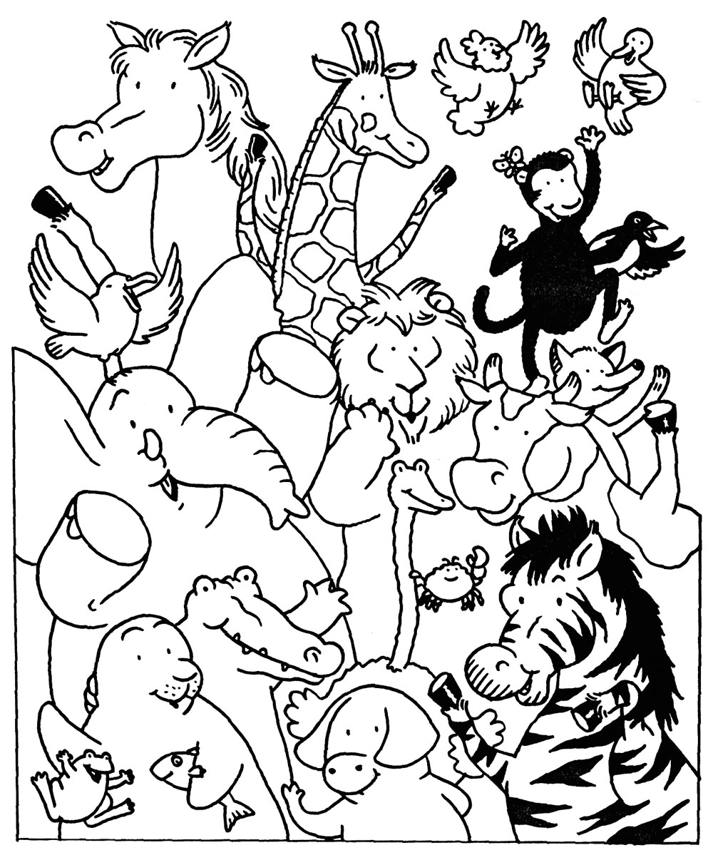 Coloriage Animaux Sauvages De La Jungle 21080 Animaux Album De Coloriages