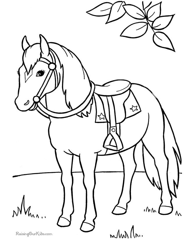 Coloriages Cheval (Animaux) - Coloriages à imprimer