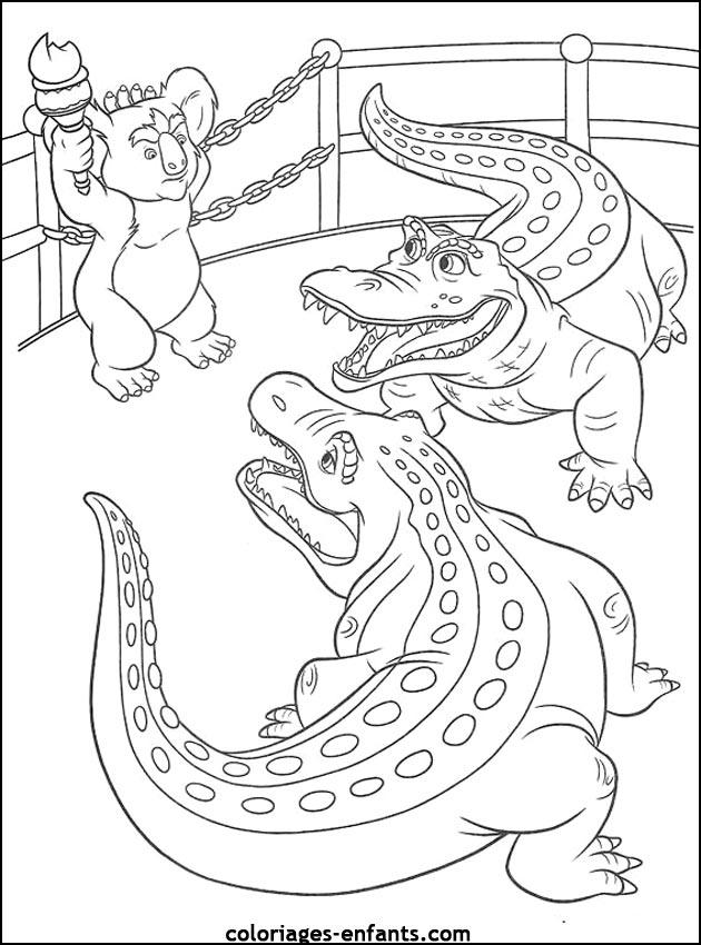 Coloriage Crocodile #4801 (Animaux) - Album de coloriages