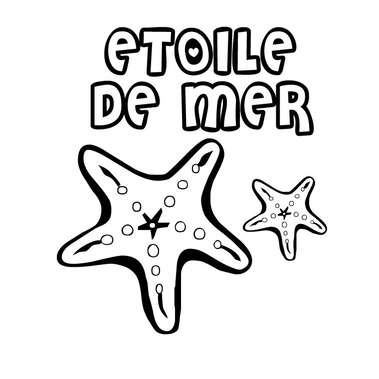 Coloriage Étoile de mer #16 (Animaux) - Coloriages à imprimer