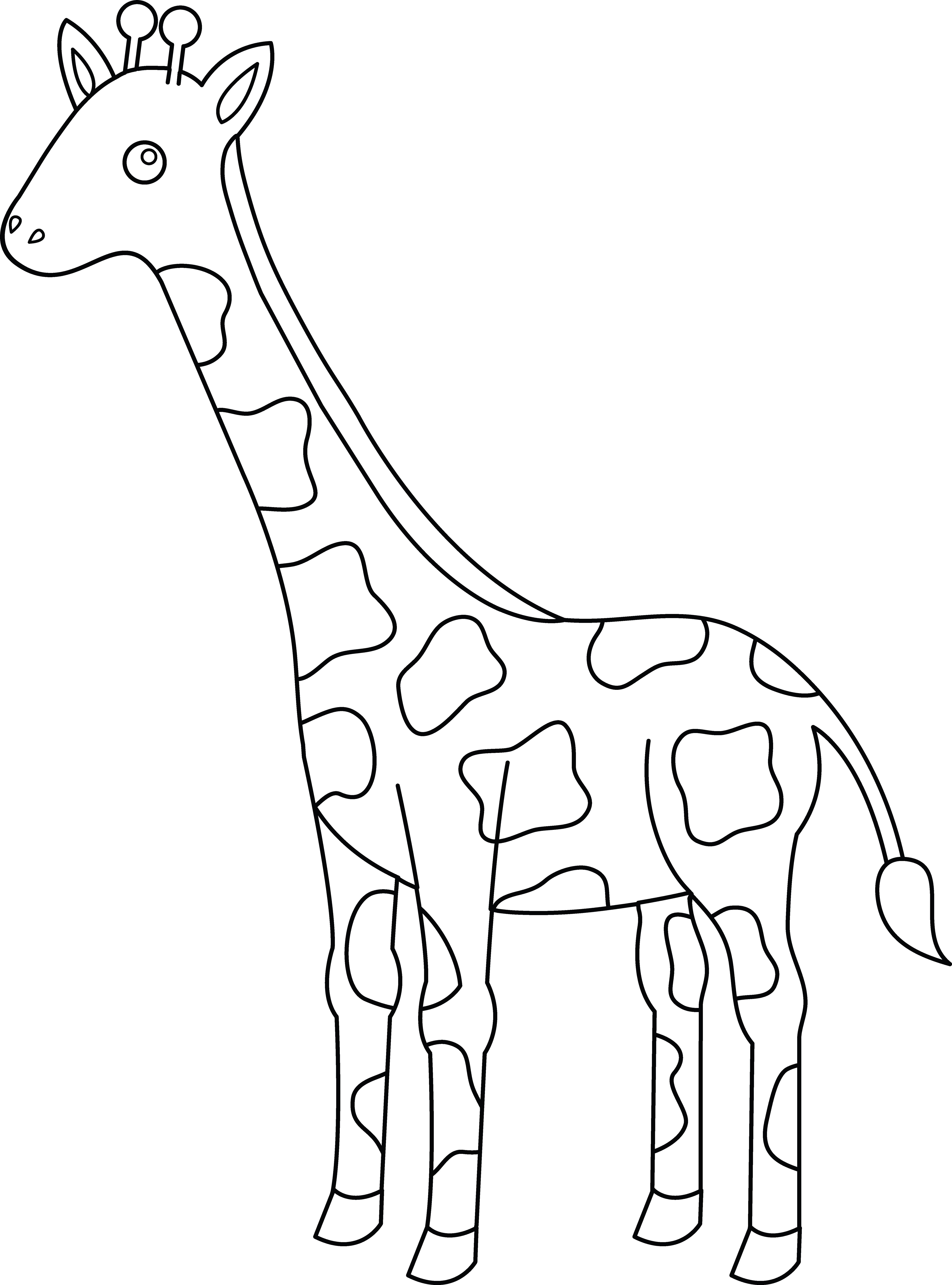 Coloriage Girafe #7406 (Animaux) - Album de coloriages