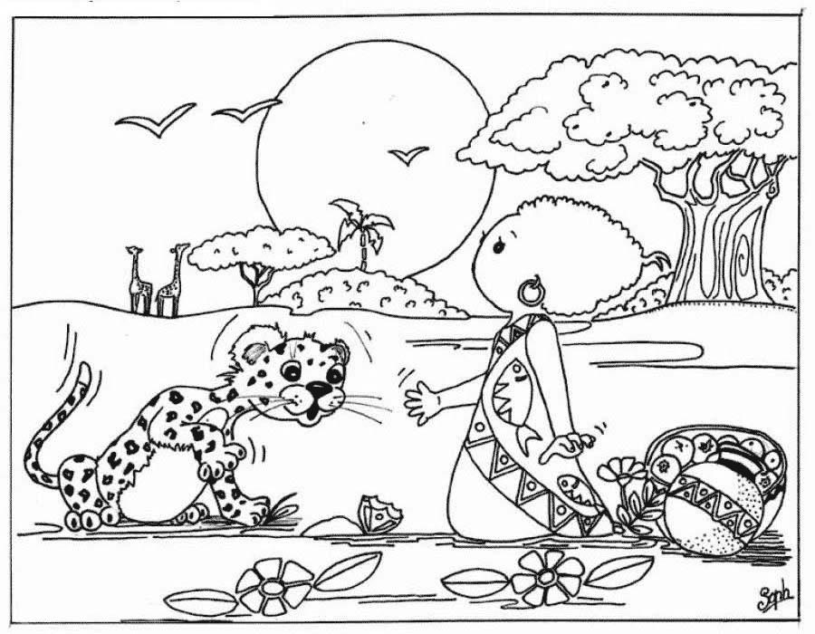 Coloriage Léopard #48 (Animaux) - Coloriages à imprimer