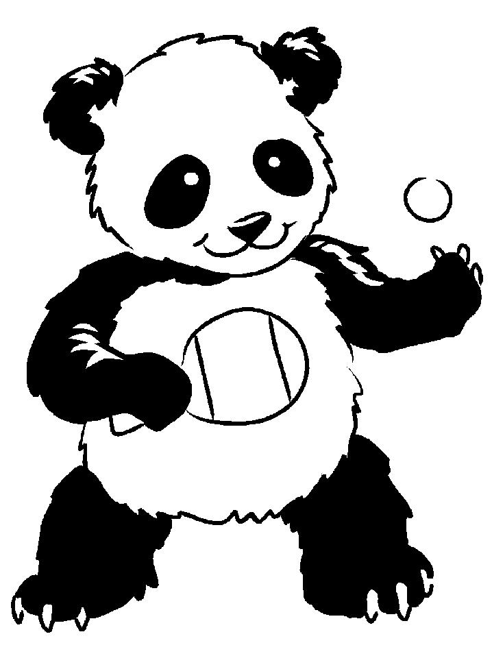 Coloriage Panda #12528 (Animaux) - Album de coloriages