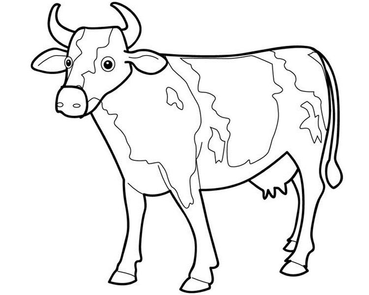 Coloriage Vache #13197 (Animaux) - Album de coloriages