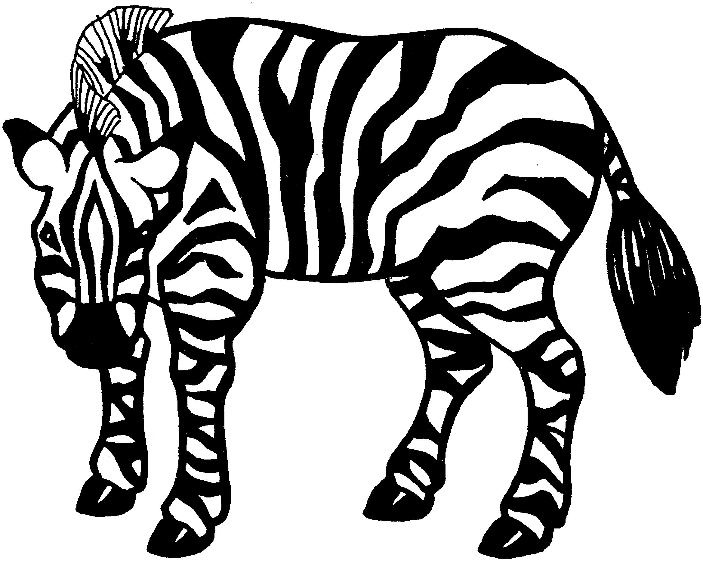 Coloriage Zèbre #86 (Animaux) - Coloriages à imprimer