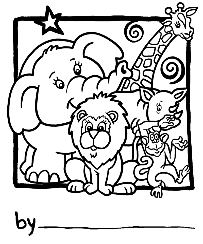 Coloriages Zoo Animaux Album De Coloriages