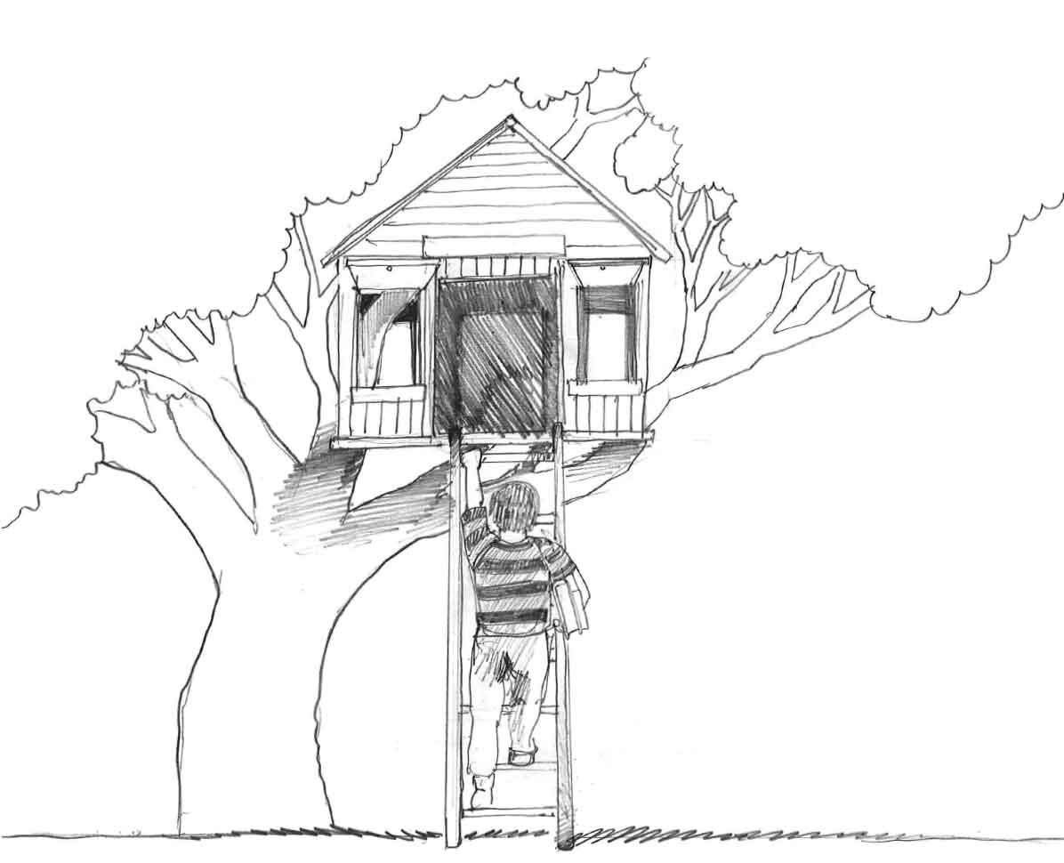 Coloriages Cabane dans un arbre (Bâtiments et Architecture ...