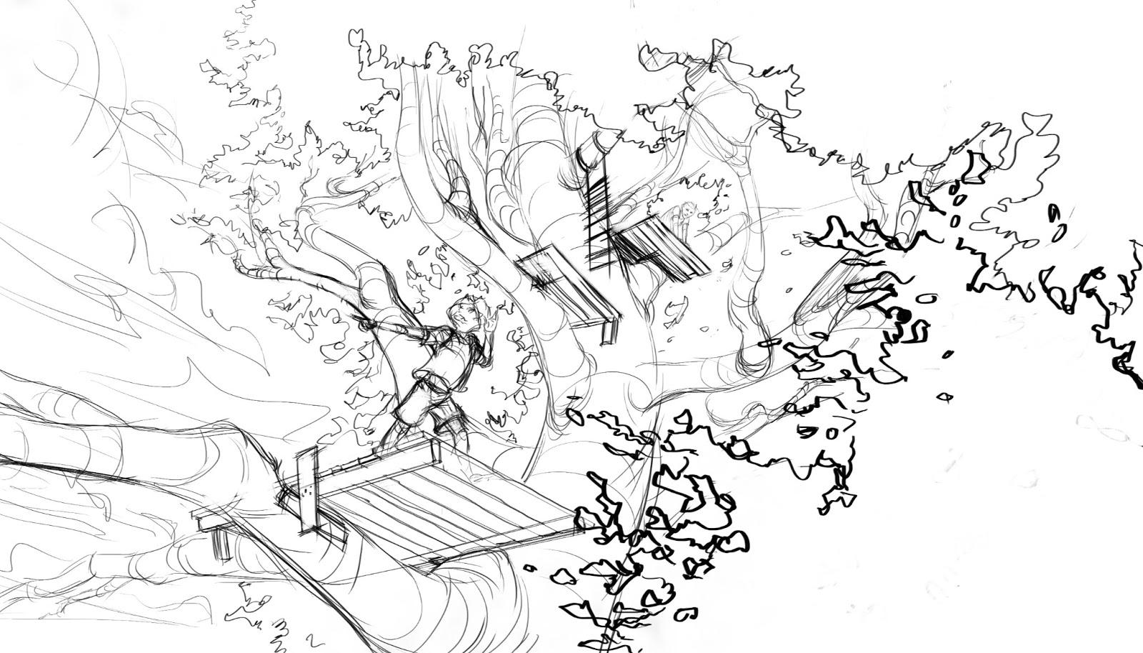 Coloriage Cabane dans un arbre #66052 (Bâtiments et ...