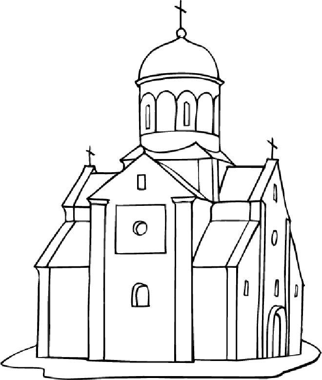 Coloriage Église #64167 (Bâtiments et Architecture ...