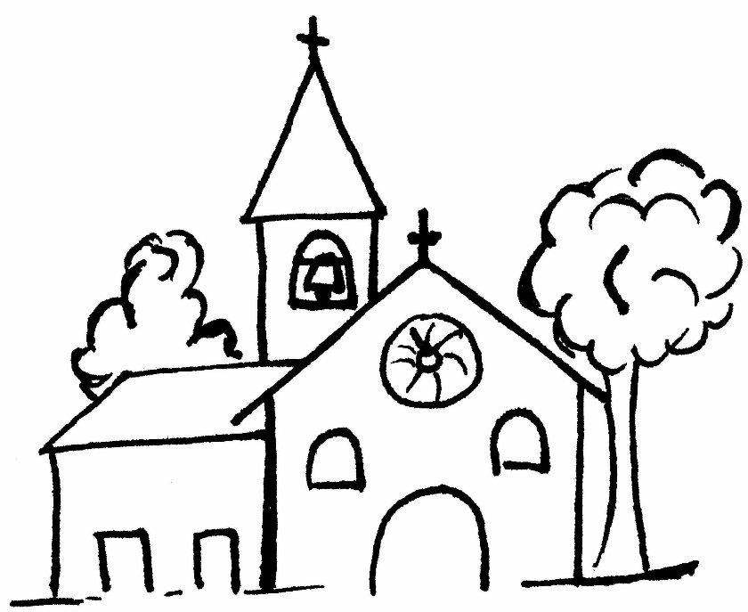 Coloriage Eglise 64274 Batiments Et Architecture Album De Coloriages