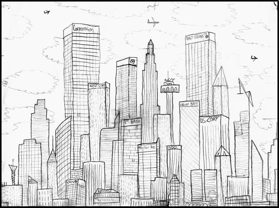 Coloriage Gratte-ciel #31 (Bâtiments et Architecture ...
