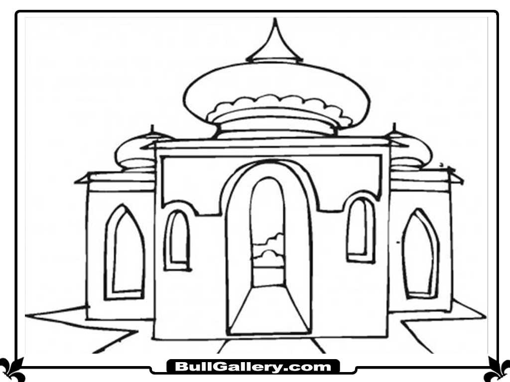 Coloriage Mosquée #64607 (Bâtiments et Architecture ...