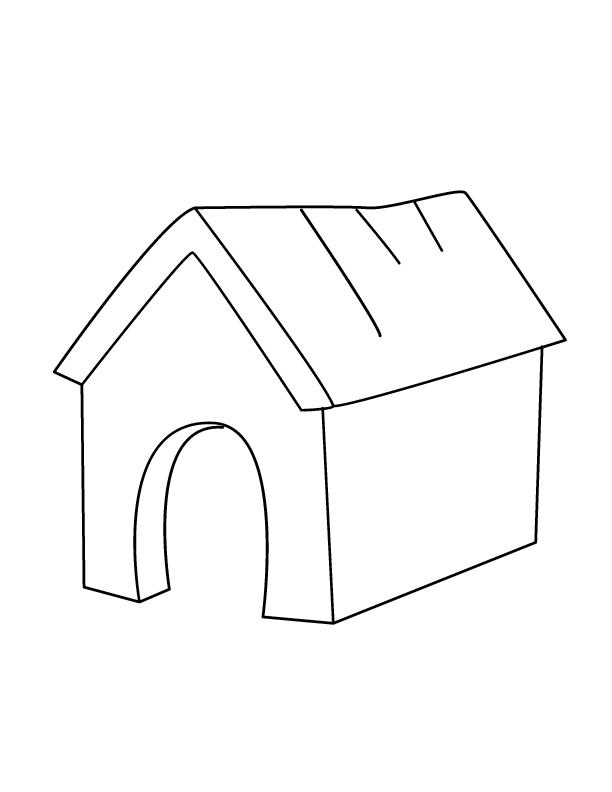 Coloriage Niche à chien #4 (Bâtiments et Architecture ...