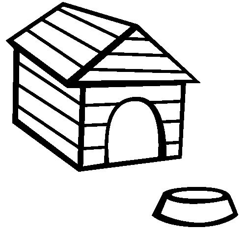 Coloriage Niche à chien #62341 (Bâtiments et Architecture ...