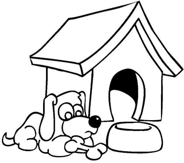 Coloriage Niche à chien #62342 (Bâtiments et Architecture ...