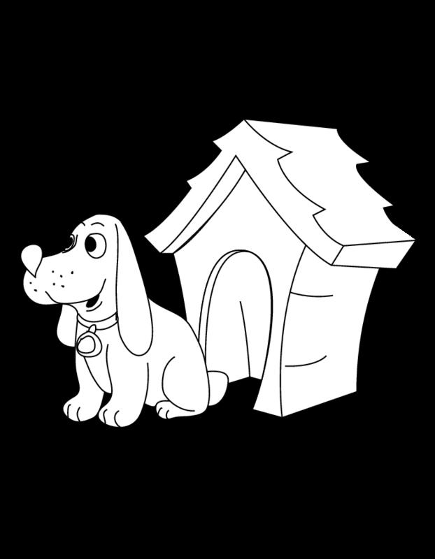 Coloriage Niche à chien #62344 (Bâtiments et Architecture ...