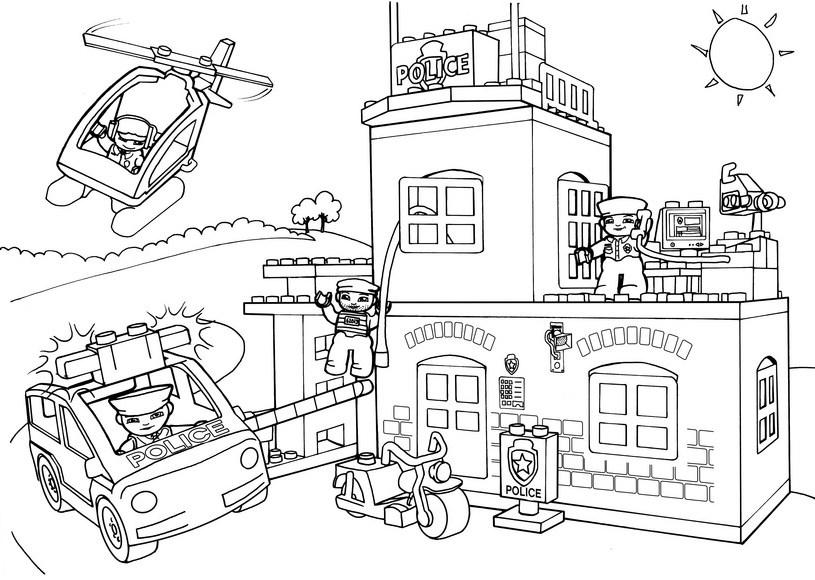 Coloriages Poste de Police (Bâtiments et Architecture ...