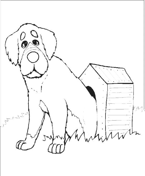 Coloriage Niche à chien #16 (Bâtiments et Architecture ...