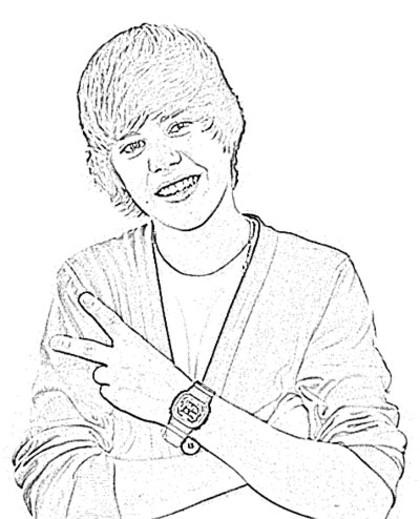 Coloriage Justin Bieber #122448 (Célébrités) - Album de ...