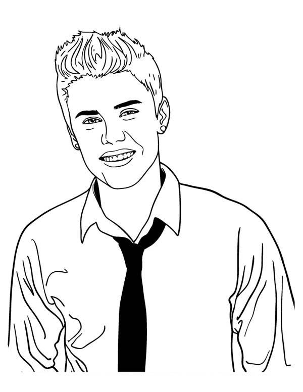 Coloriage Justin Bieber #122479 (Célébrités) - Album de ...