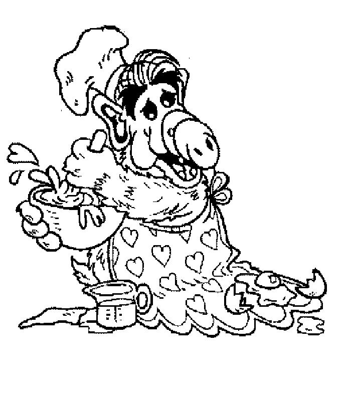 Coloriage Alf #5 (Dessins Animés) - Coloriages à imprimer