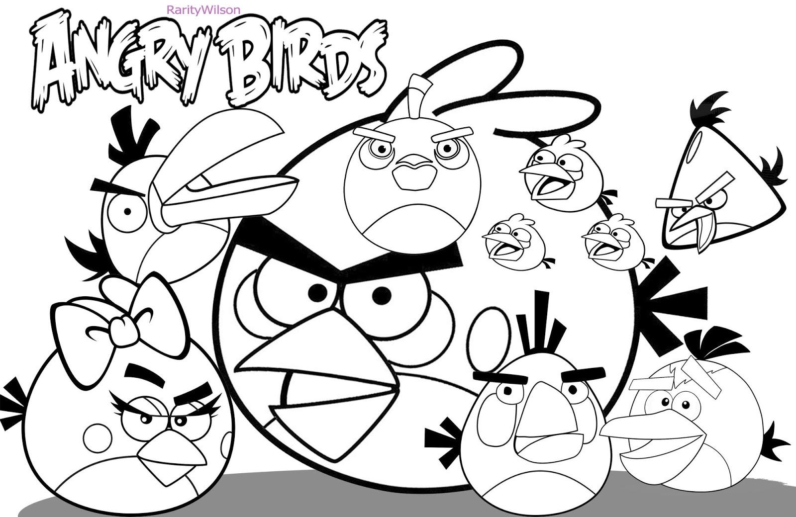 Coloriage Angry Birds 25031 Dessins Animes Album De Coloriages