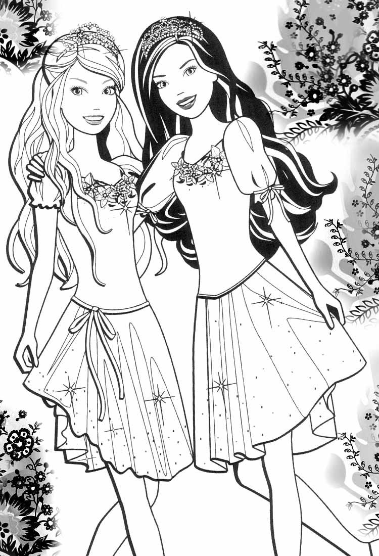 Coloriage Barbie #83 (Dessins Animés) - Coloriages à imprimer
