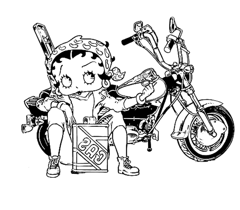 Coloriage Betty Boop #25985 (Dessins Animés) - Album de ...