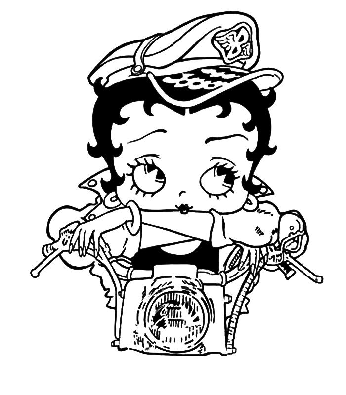 Coloriage Betty Boop #117 (Dessins Animés) - Coloriages à ...