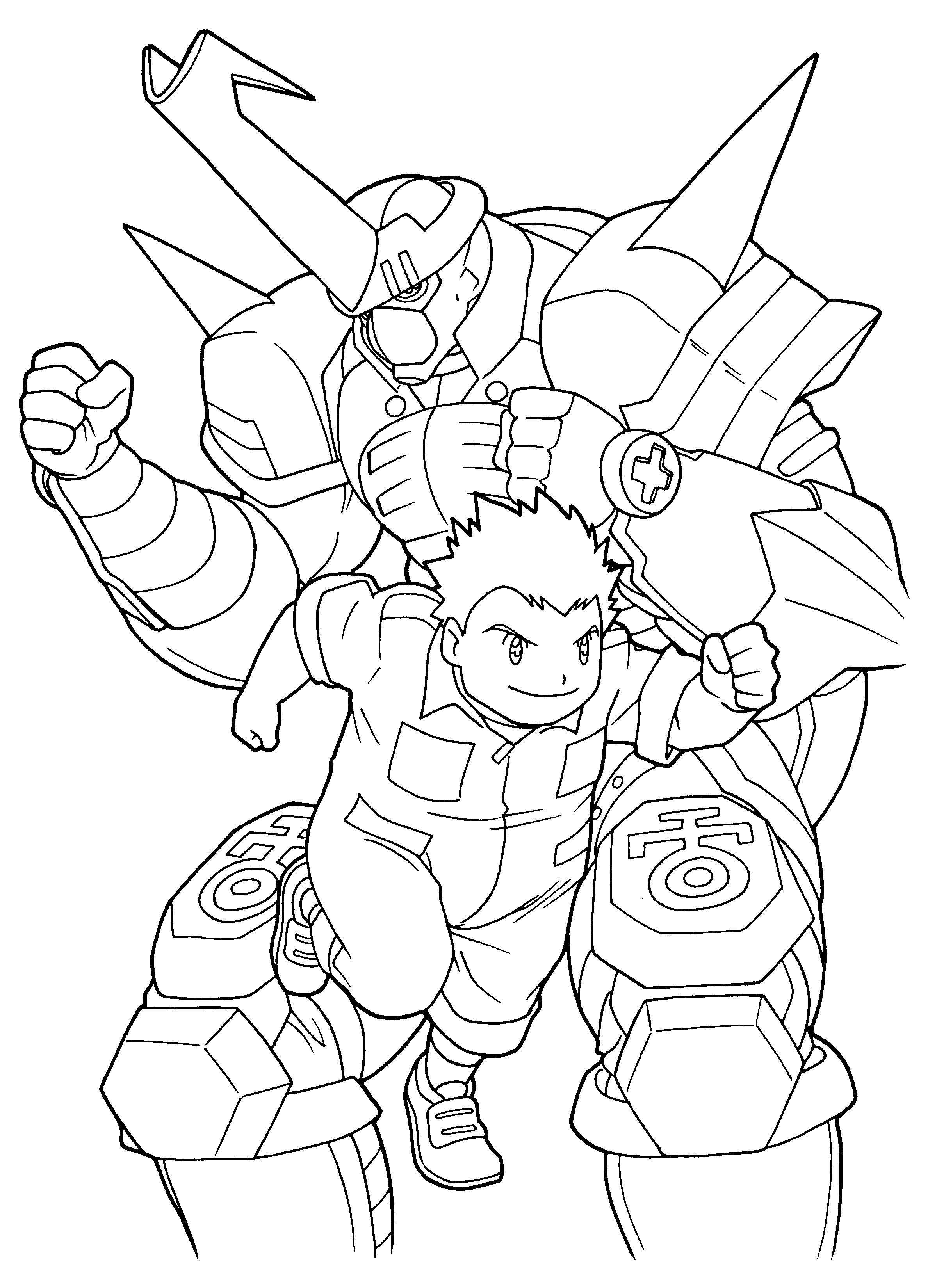 Coloriage Digimon #46 (Dessins Animés) - Coloriages à imprimer