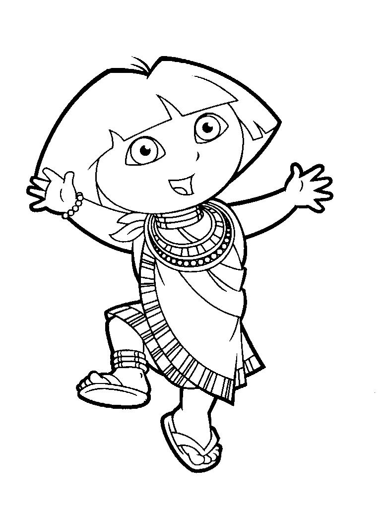 Coloriage Dora l'Exploratrice #182 (Dessins Animés ...