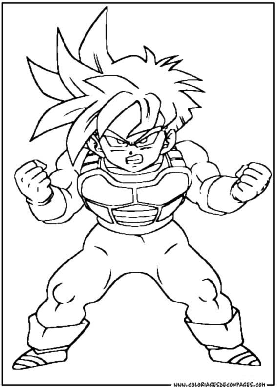 Coloriage Dragon Ball Z 39 Dessins Animes Coloriages A Imprimer