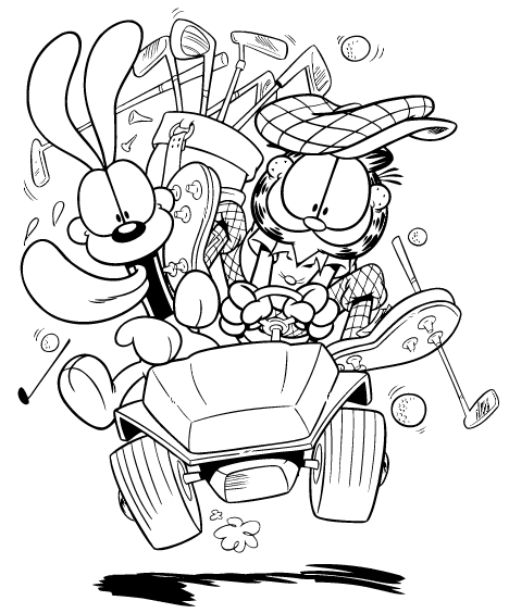 Coloriage Garfield #26282 (Dessins Animés) - Album de ...