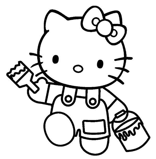 Coloriage Hello Kitty #36984 (Dessins Animés) - Album de ...