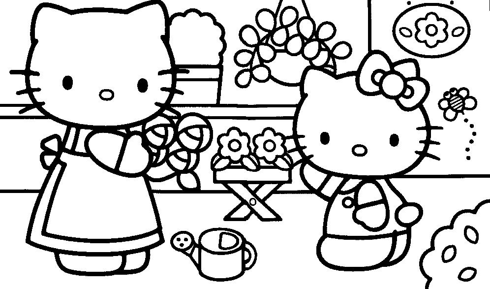 Coloriage Hello Kitty #244 (Dessins Animés) - Coloriages à ...