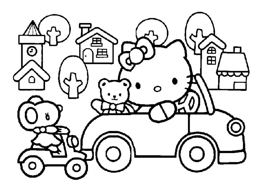 Coloriage Hello Kitty #282 (Dessins Animés) - Coloriages à ...