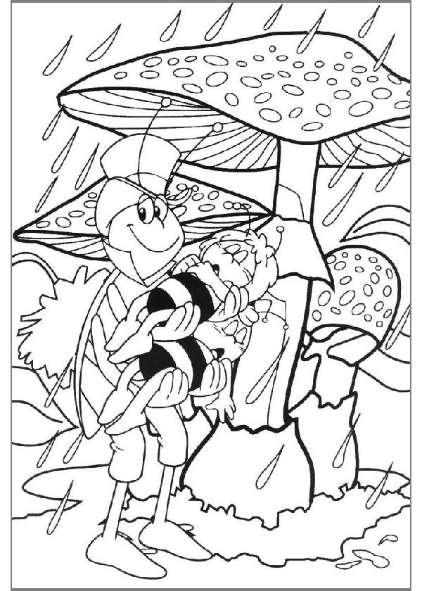 Coloriage Maya l'abeille #111 (Dessins Animés ...