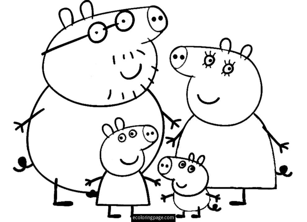 Coloriages Peppa Pig Dessins Animes Album De Coloriages