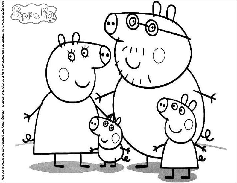 Coloriage Peppa Pig 43938 Dessins Animes Album De Coloriages