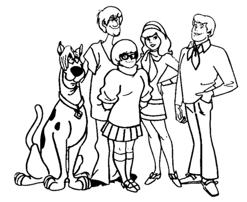 Coloriages Scooby Doo Dessins Animes Album De Coloriages