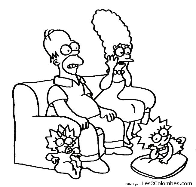 Coloriage Simpson #50 (Dessins Animés) - Coloriages à imprimer