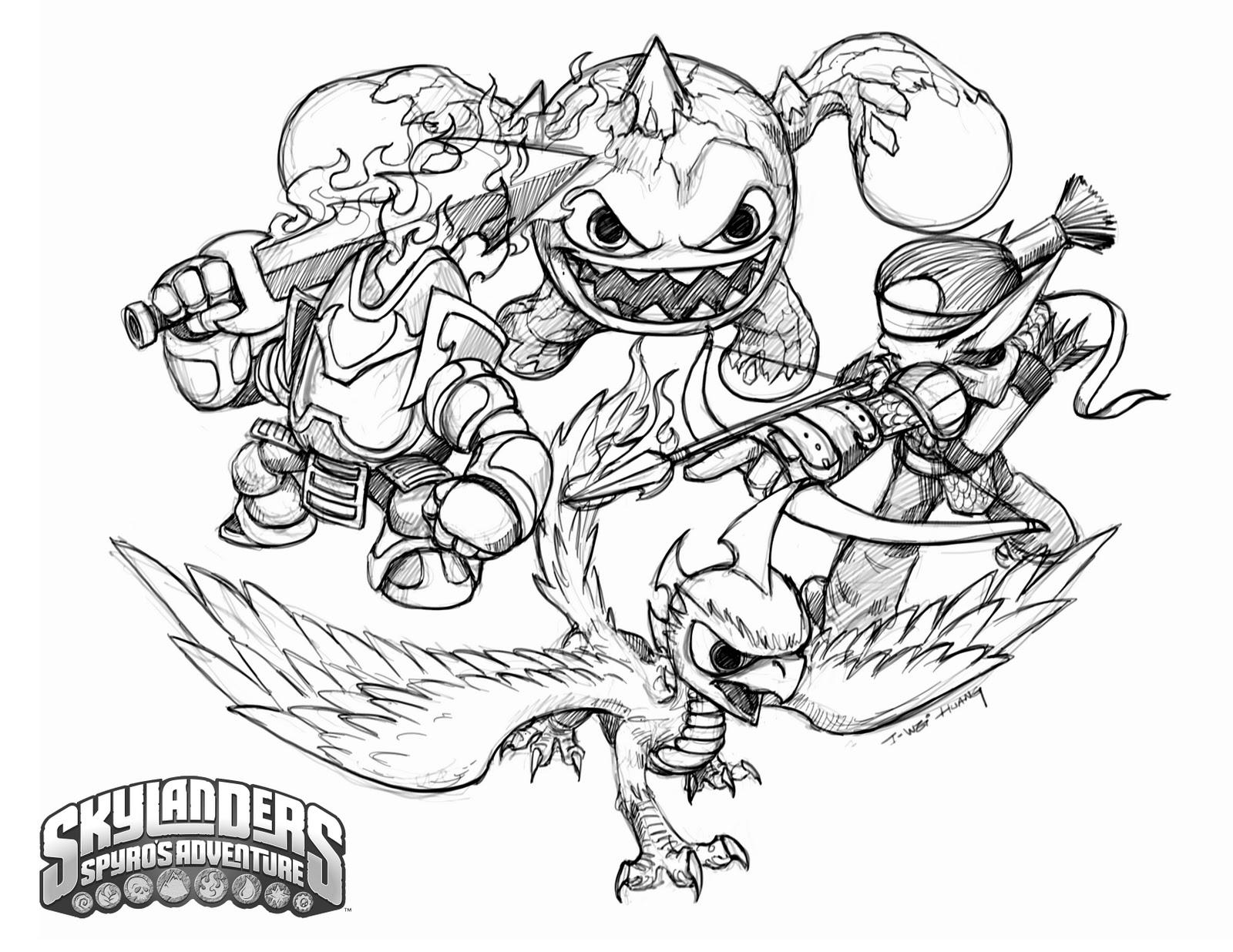Coloriage Skylanders #13 (Dessins Animés) - Coloriages à imprimer