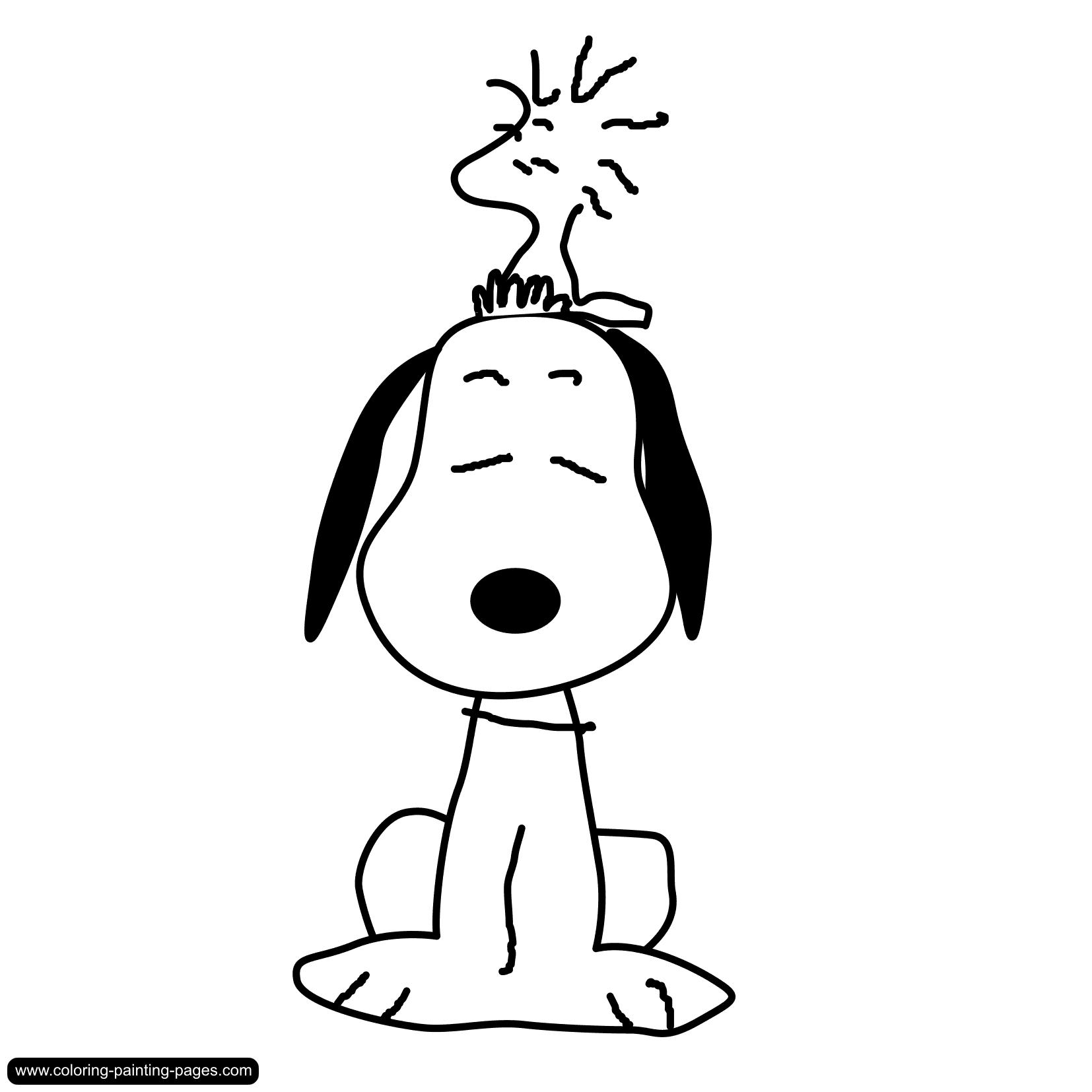 Coloriage Snoopy #27055 (Dessins Animés) - Album de coloriages