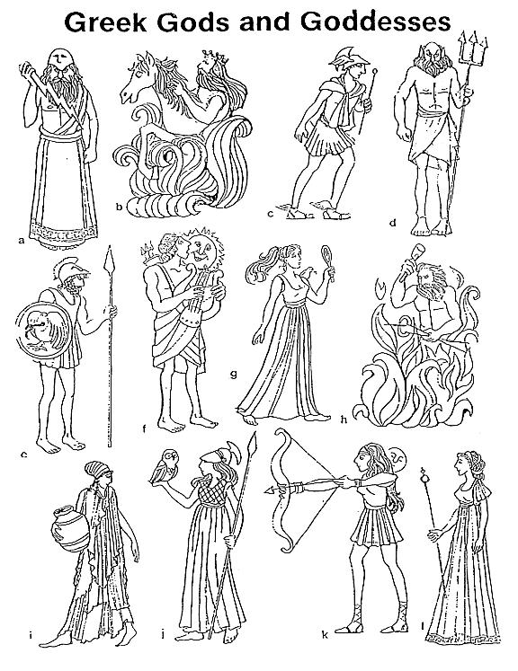 Coloriages Mythologie Grecque (Dieux et Déesses) - Page 3 ...