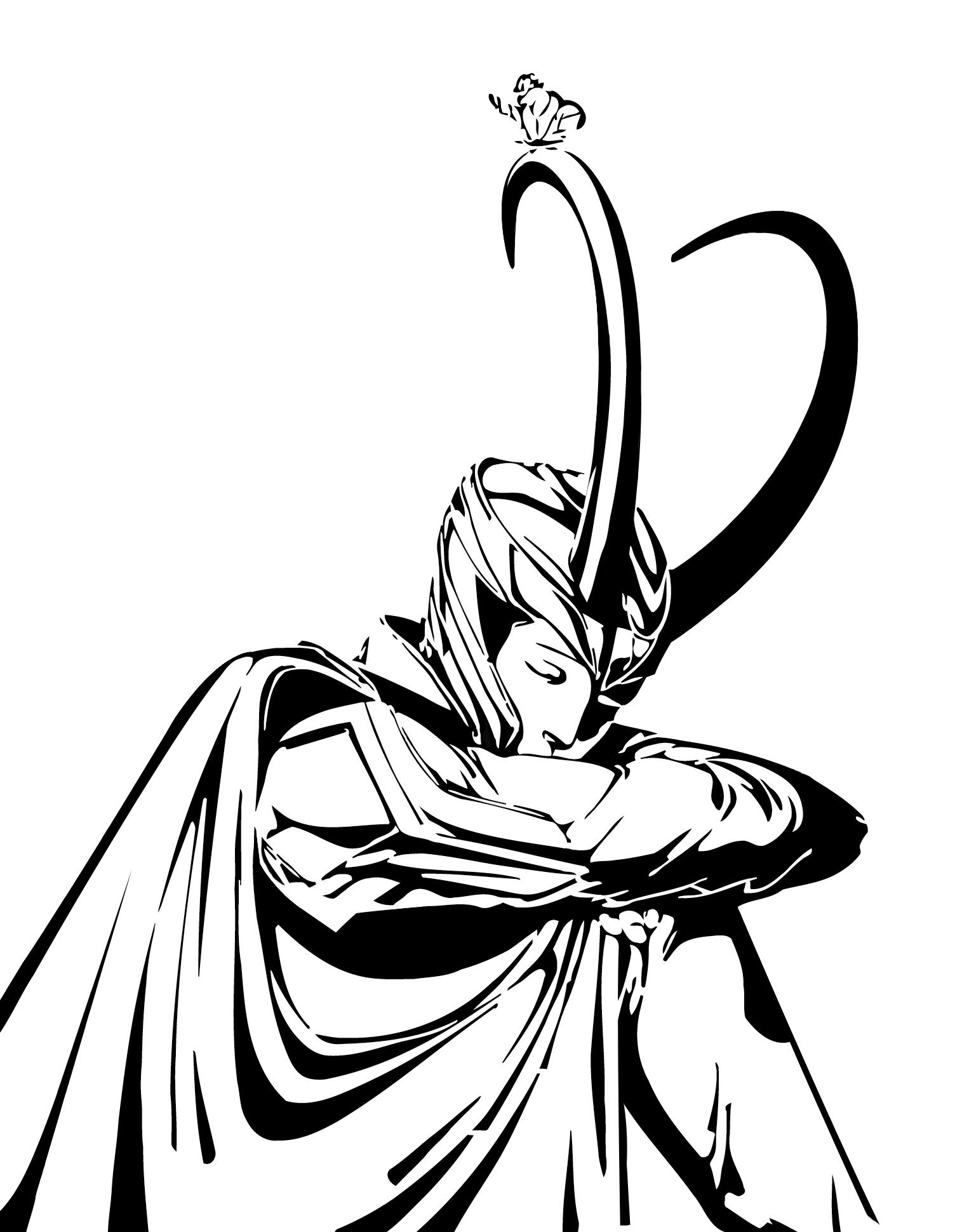 Coloriage Mythologie Nordique #69 (Dieux et Déesses ...