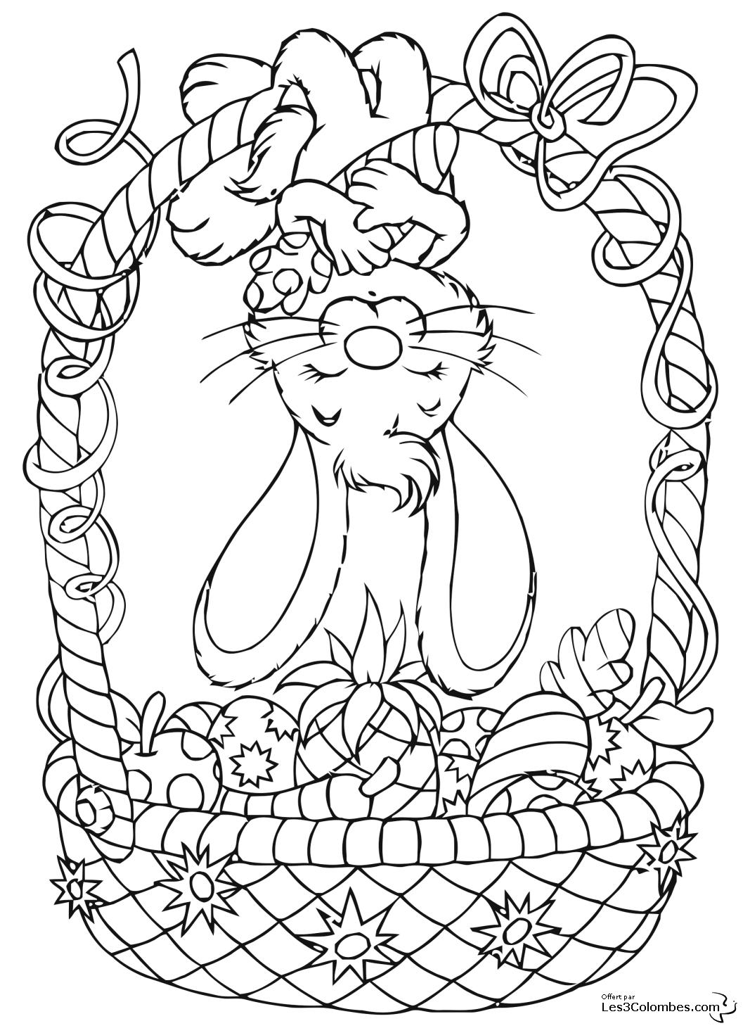 Coloriage Pâques #54707 (Fêtes et Occasions spéciales ...